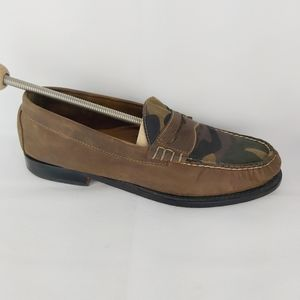 G.H BASS & CO Weejuns Camo loafers slip on